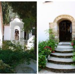 Pictures of two scenic monasteries on Skiathos Island