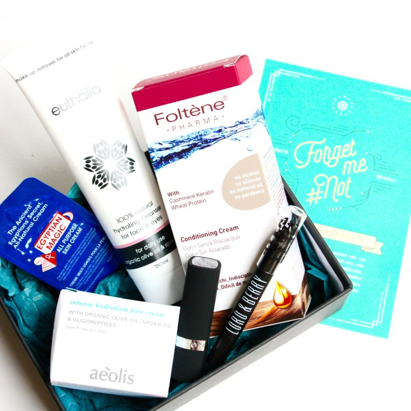 Glowbox for March and April, The Forget me Not Box!